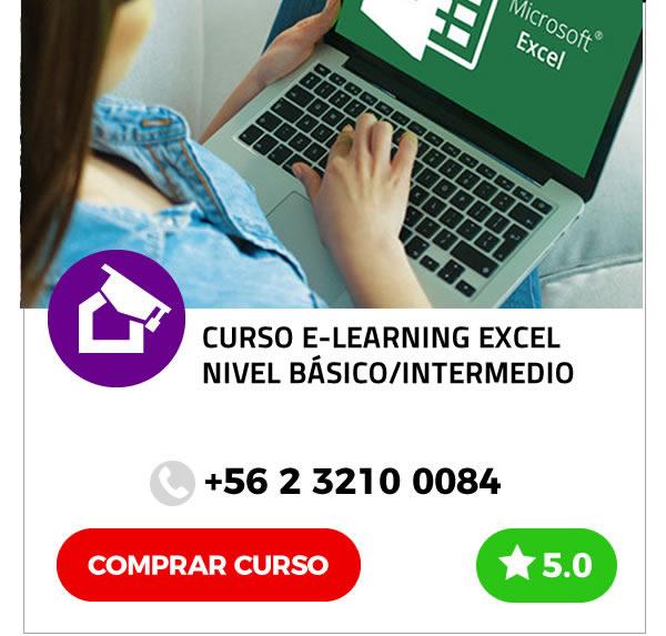 Curso E-learning de Excel Nivel Básico/Intermedio